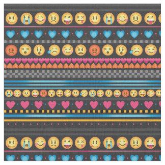 Tecido bonito da listra de Emoji