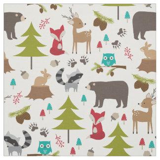 Tecido bonito do animal da floresta