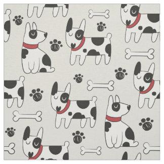 Tecido bonito do teste padrão do cão