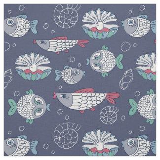 Tecido bonito do teste padrão dos peixes