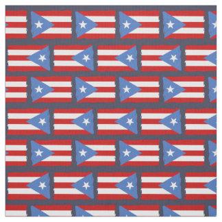 Tecido Bordas rasgadas: Bandeira de Puerto Rico