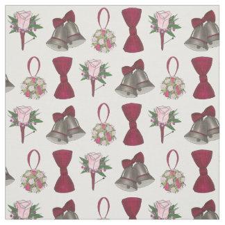 Tecido Boutonniere cor-de-rosa nupcial do arco da flor de