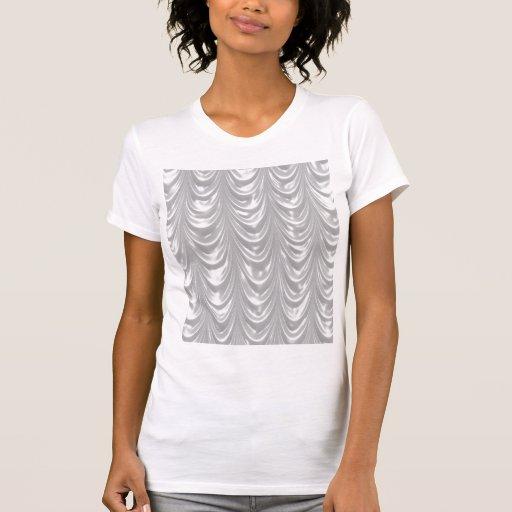 Tecido branco nupcial do cetim com teste padrão camiseta