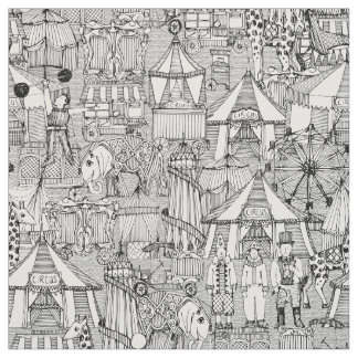 Tecido branco retro do preto do circo