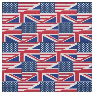 Tecido britânico americano da bandeira do cidadão