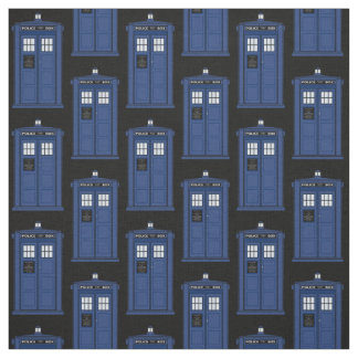 Tecido britânico azul da caixa de polícia para o