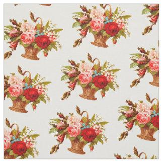 Tecido Buquê cor-de-rosa da decoração francesa do país