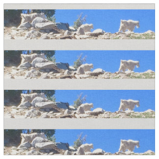 Tecido Cabras de montanha azuis da montanha