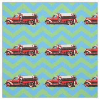 Tecido Carro de bombeiros do vintage