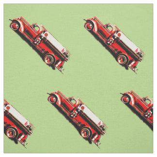 Tecido Carro de bombeiros vermelho do vintage