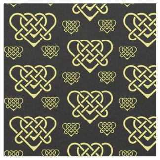 Tecido Céltico/ouro trançado Gadhlig do coração do design