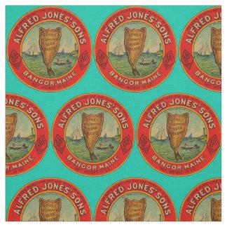 Tecido cerca da etiqueta 1900 de Finnan Haddie dos filhos