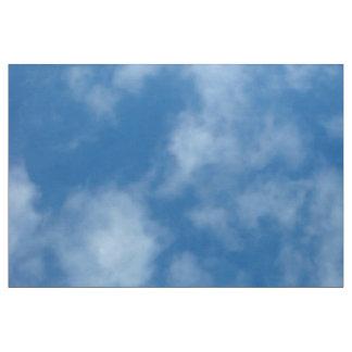 Tecido Céu azul com foto das nuvens