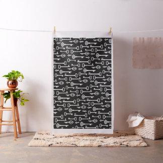 Tecido Chaves pretas & brancas do Victorian