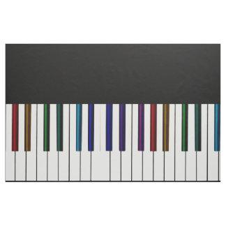 Tecido Chaves psicadélicos escuras legal do piano