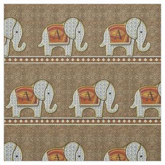 Tecido Chita quente do monograma da caminhada do elefante