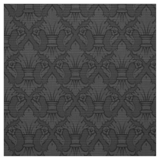 Tecido cinzento do teste padrão da flor de lis