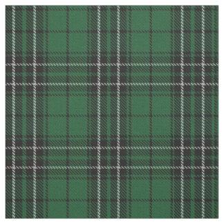 Tecido Clã MacLean que caça o Tartan escocês preto verde