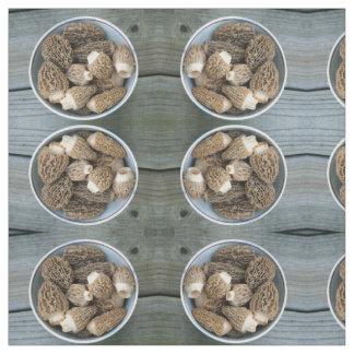 Tecido Cogumelos do Morel