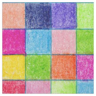 Tecido Colorido colorido em quadrados do papel de gráfico