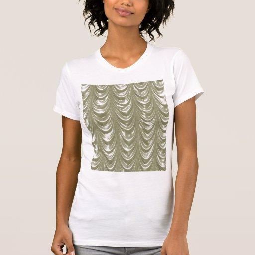 Tecido colorido creme do cetim com teste padrão tshirts