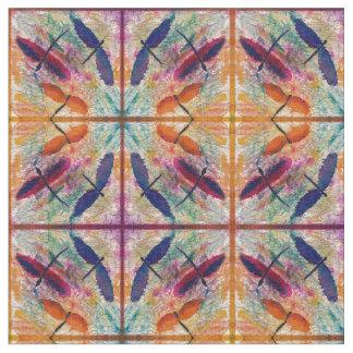 Tecido colorido da libélula