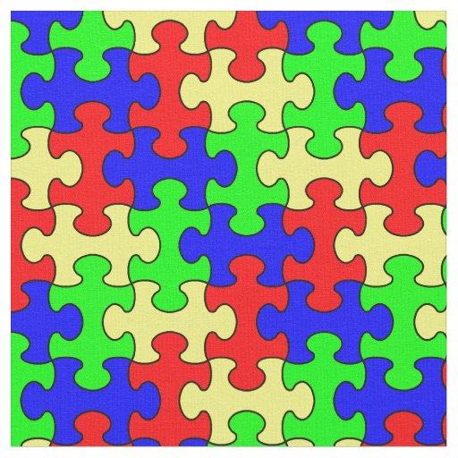Tecido colorido do quebra-cabeça
