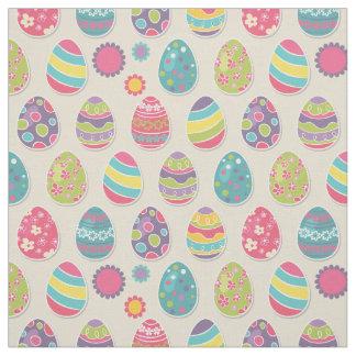 Tecido colorido dos ovos da páscoa