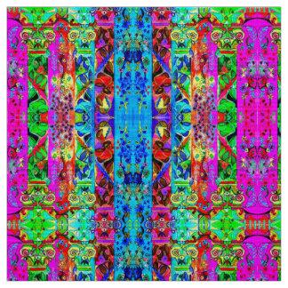 Tecido Colunas florais