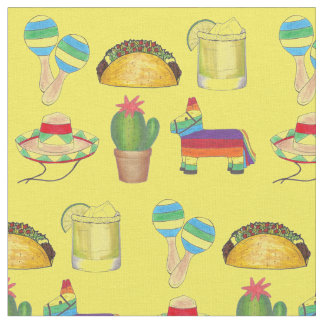 Tecido Comemore o impressão mexicano de Cinco de Mayo