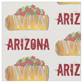 Tecido Comida de Chimichanga Foodie Phoenix AZ Tex Mex da