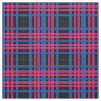 Tecido cor-de-rosa & azul do teste padrão da