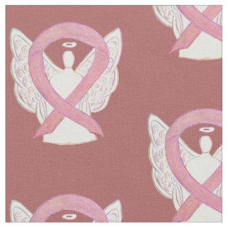 Tecido cor-de-rosa do anjo da fita da consciência