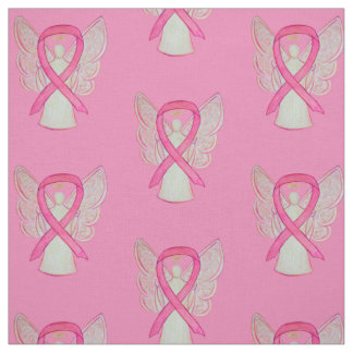 Tecido cor-de-rosa do anjo do cancro da mama da