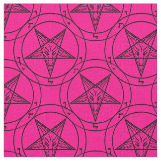 tecido cor-de-rosa do baphomet