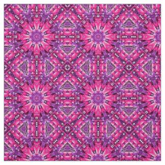 Tecido cor-de-rosa do caleidoscópio do roxo dois