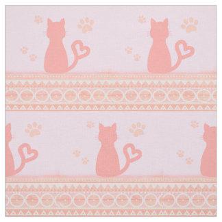 Tecido cor-de-rosa do gatinho