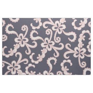Tecido Cora o laço floral branco cor-de-rosa em azuis