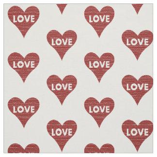 Tecido Cordas do coração do amor