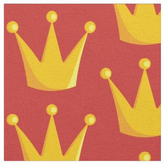 Tecido Coroa da rainha da grade