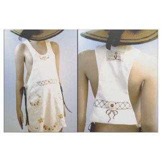 Tecido Corte & Sew o avental bordado vintage da forma