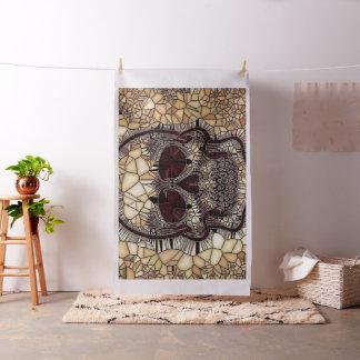 Tecido Crânio de vidro do mosaico, bege