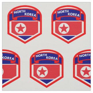 Tecido Crista da bandeira da Coreia do Norte
