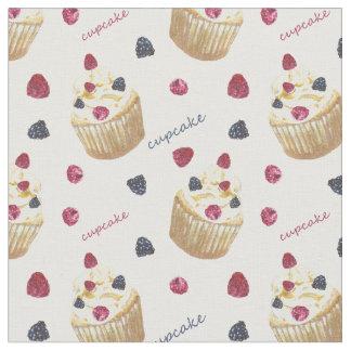 Tecido Cupcakes da aguarela