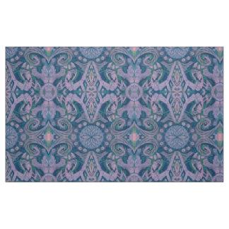 Tecido Curvas & Lotuses, lavanda abstrata do teste padrão