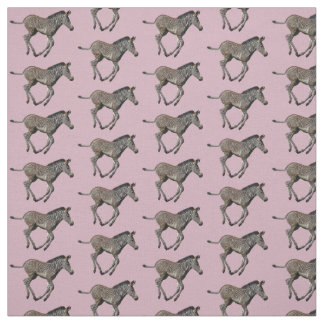 Tecido da agitação da zebra do bebê (rosa)
