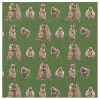 Tecido da agitação do cão de pradaria (verde