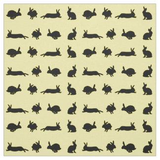 Tecido da agitação do coelho (amarelo)