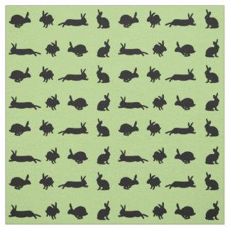 Tecido da agitação do coelho (luz - verde)