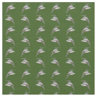 Tecido da agitação do colibri (verde escuro)